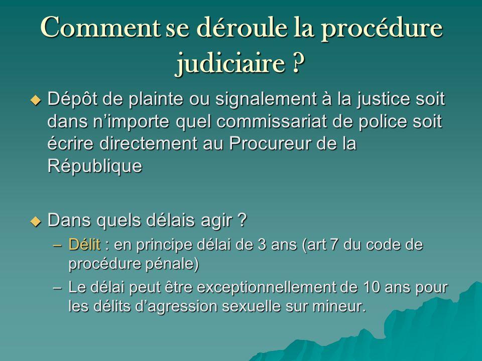 Comment se déroule la procédure judiciaire