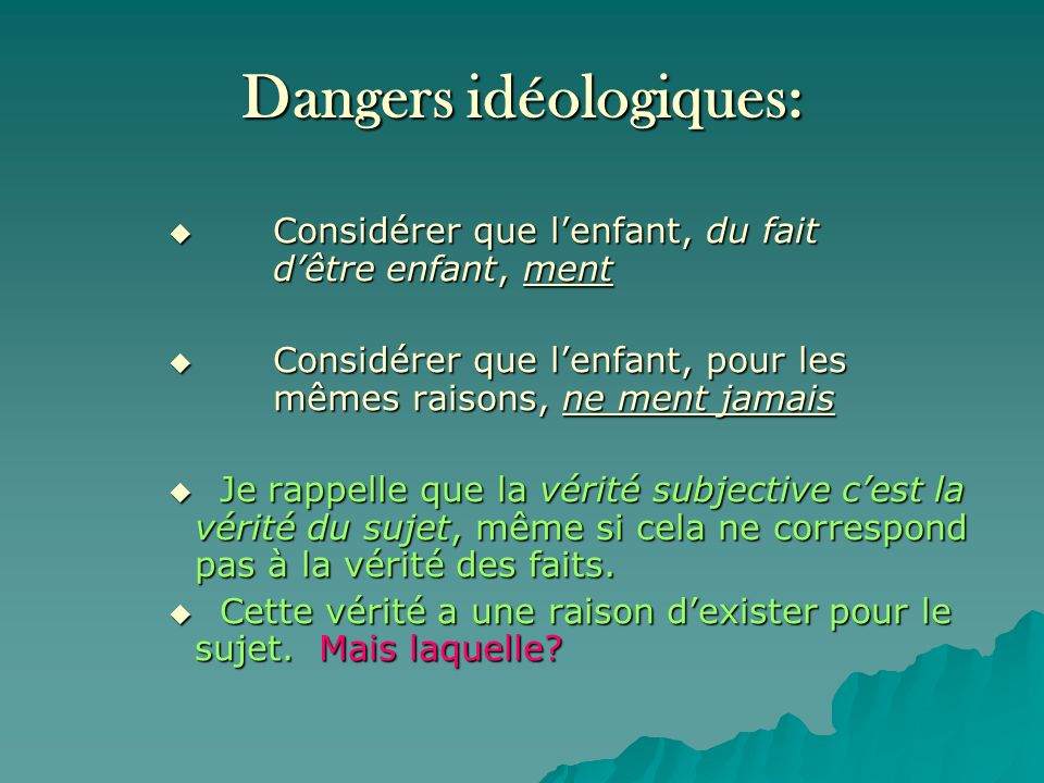 Dangers idéologiques: