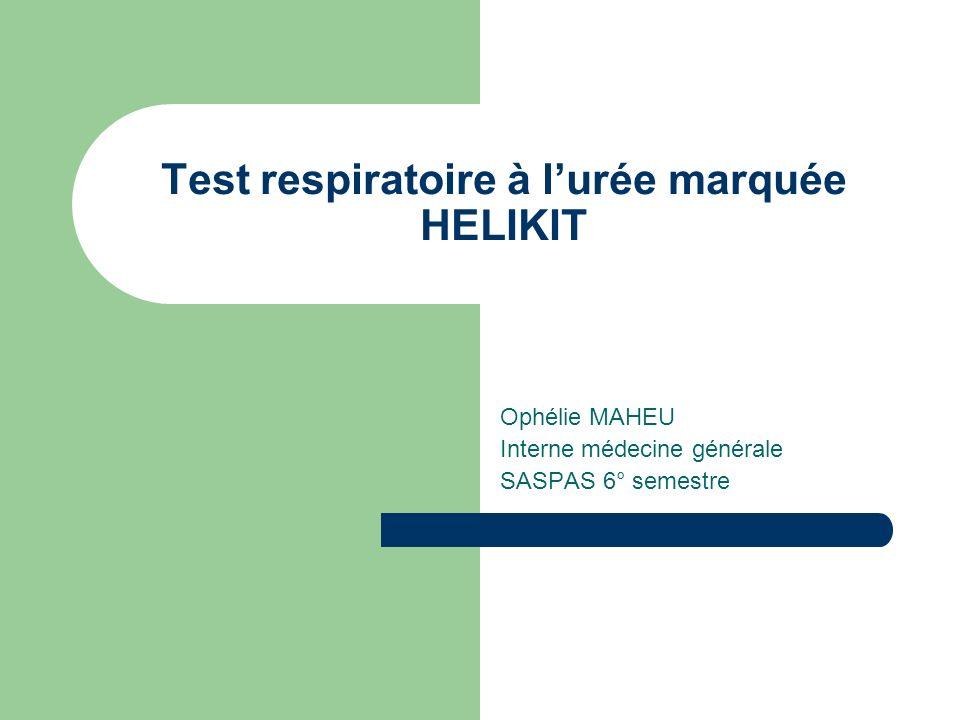 Test respiratoire à l'urée marquée HELIKIT