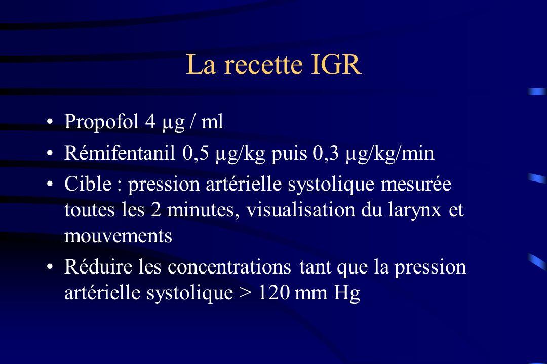 La recette IGR Propofol 4 µg / ml