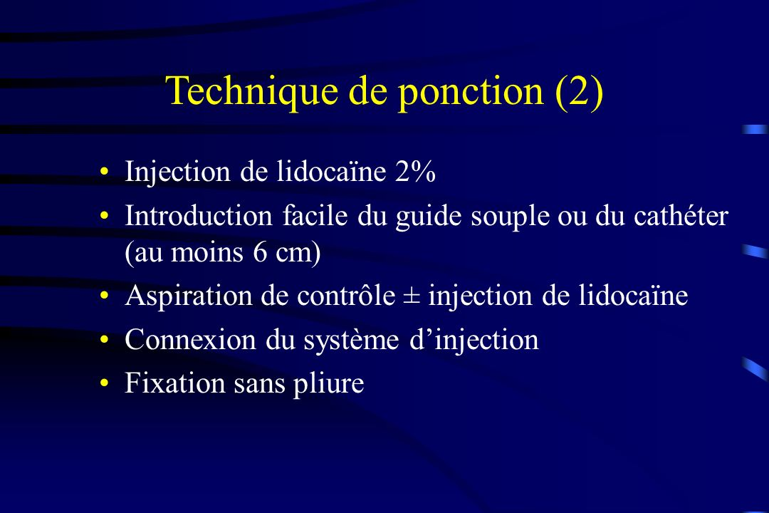 Technique de ponction (2)