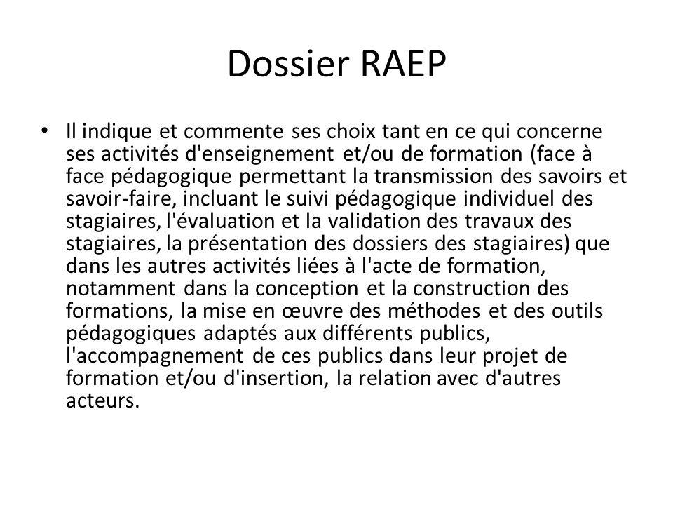 Dossier RAEP