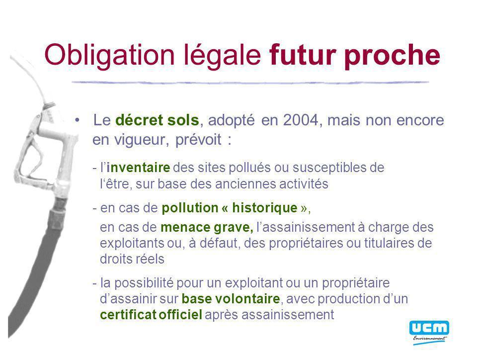 Obligation légale futur proche