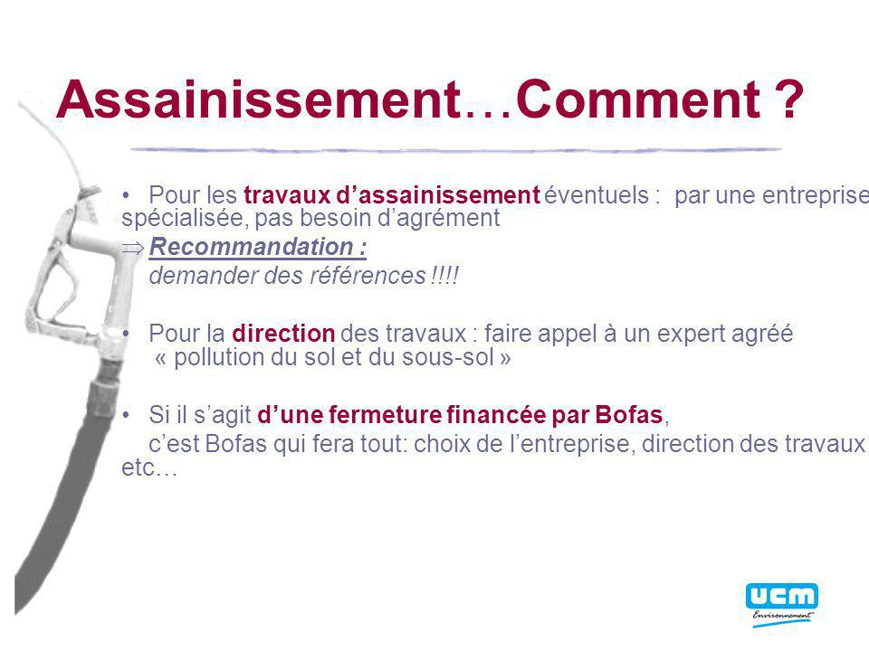 Assainissement…Comment