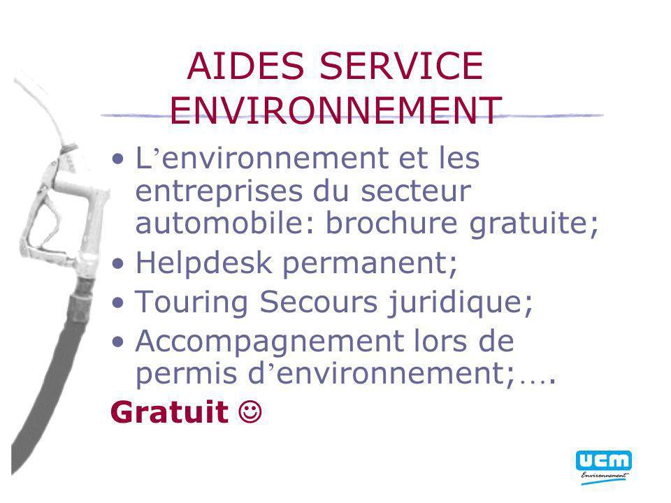 AIDES SERVICE ENVIRONNEMENT