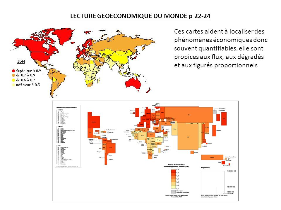 LECTURE GEOECONOMIQUE DU MONDE p 22-24
