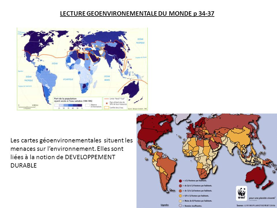 LECTURE GEOENVIRONEMENTALE DU MONDE p 34-37