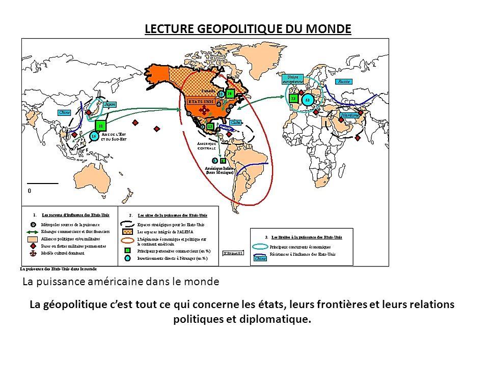 LECTURE GEOPOLITIQUE DU MONDE