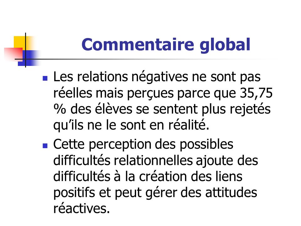 Commentaire global