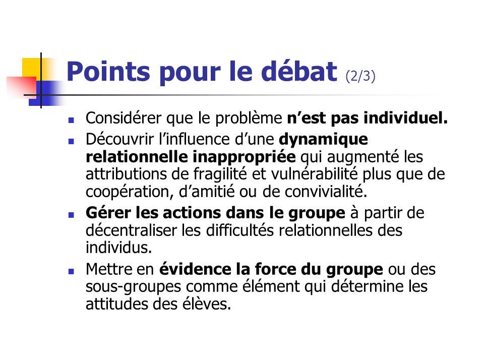 Points pour le débat (2/3)