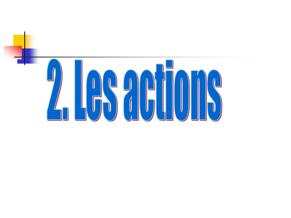 2. Les actions