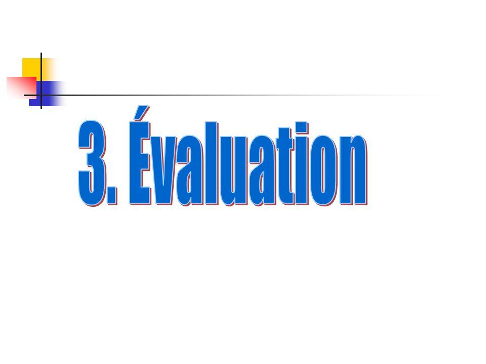3. Évaluation