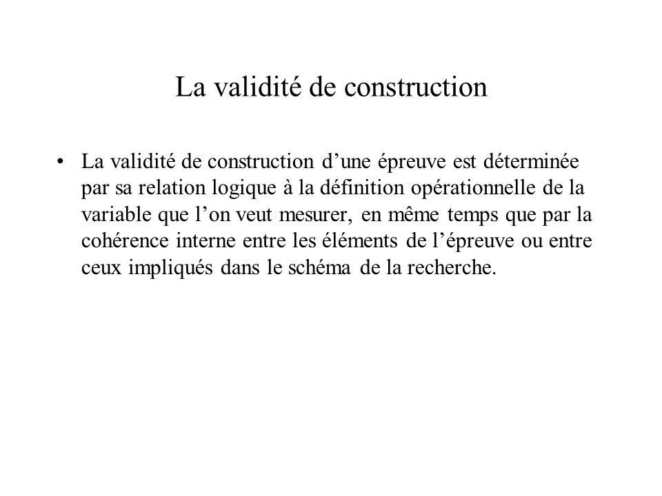La validité de construction