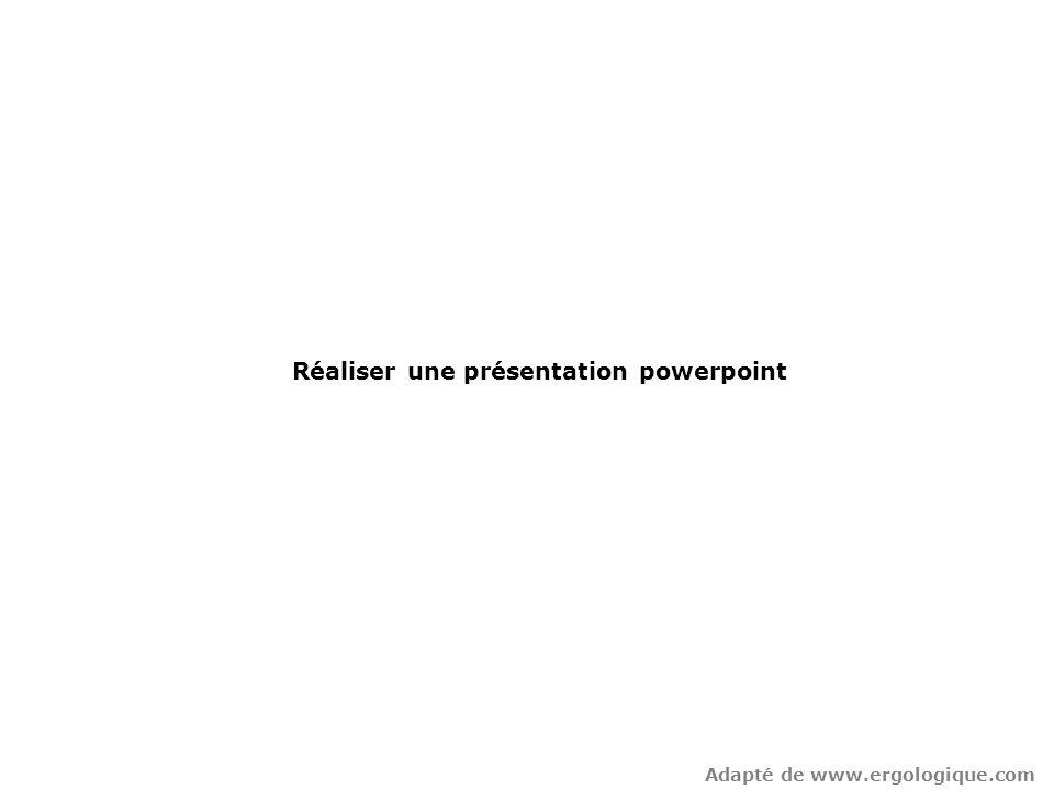 Réaliser une présentation powerpoint
