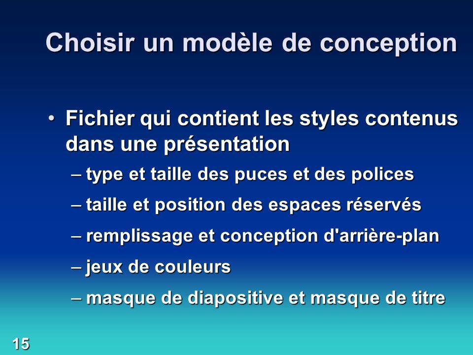 Choisir un modèle de conception