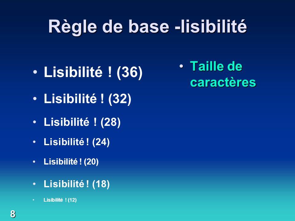 Règle de base -lisibilité