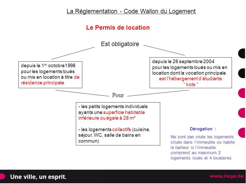 La Réglementation - Code Wallon du Logement