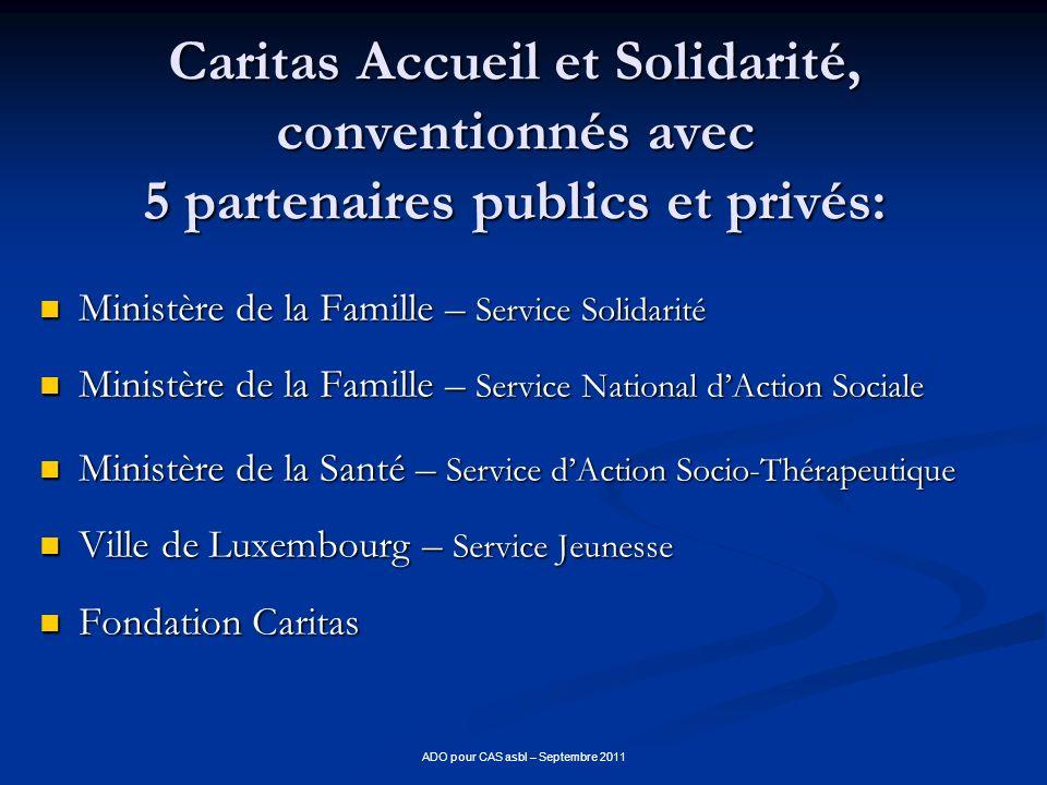 ADO pour CAS asbl – Septembre 2011
