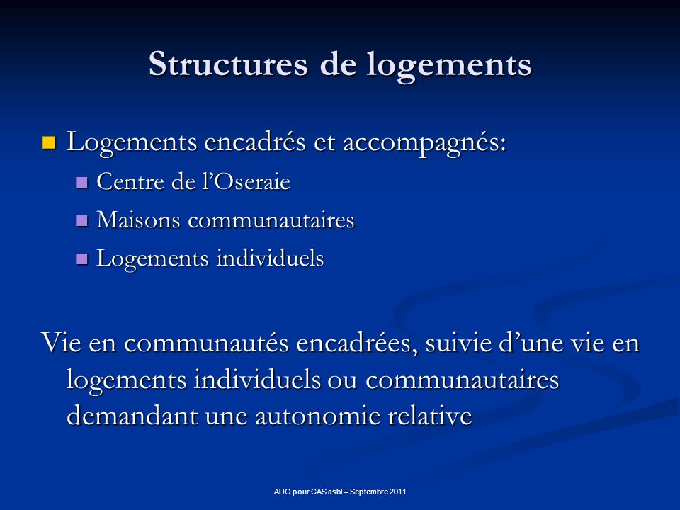 Structures de logements