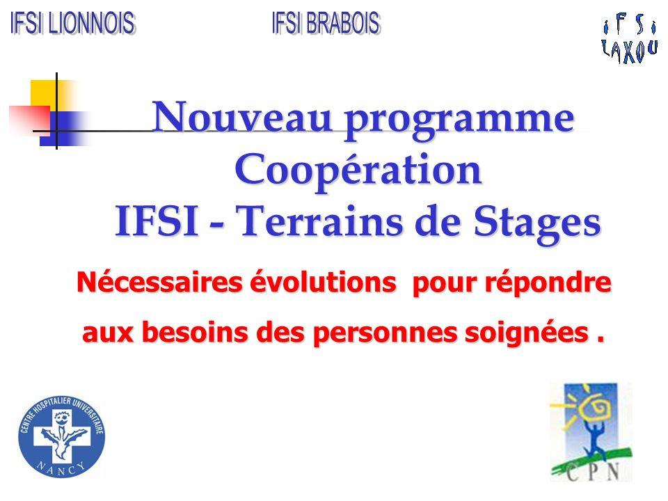 Nouveau programme Coopération IFSI - Terrains de Stages