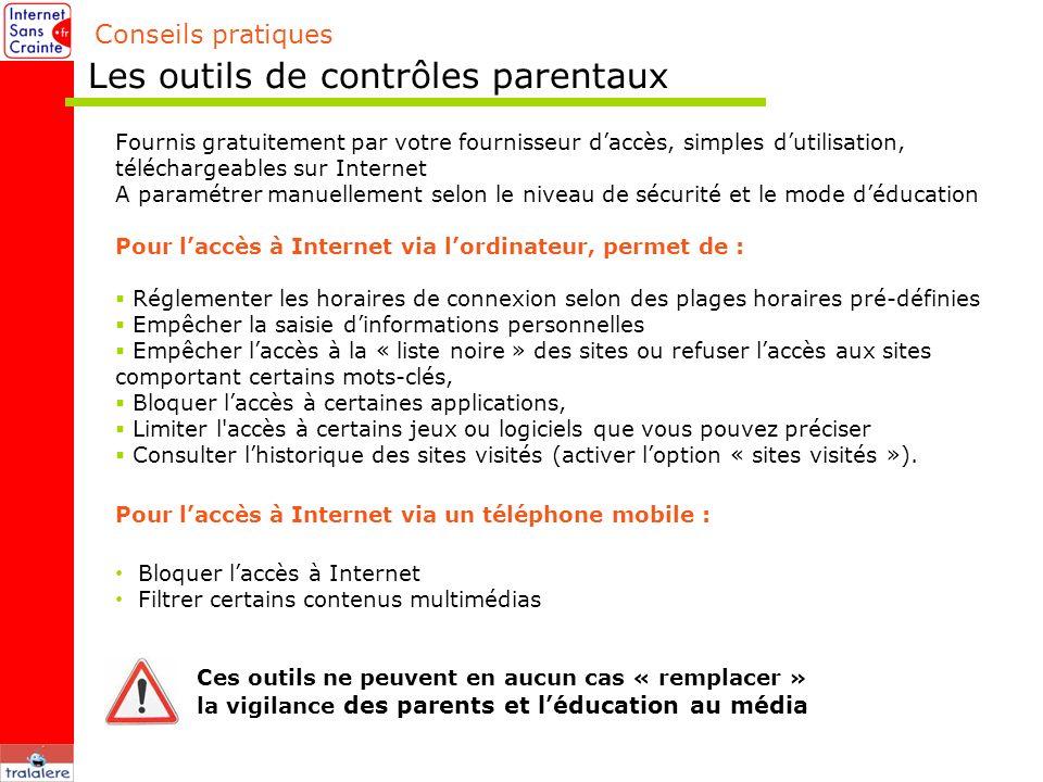 Les outils de contrôles parentaux