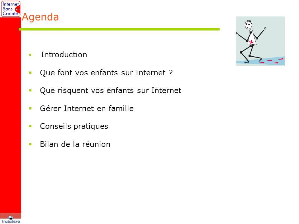 Agenda Que font vos enfants sur Internet