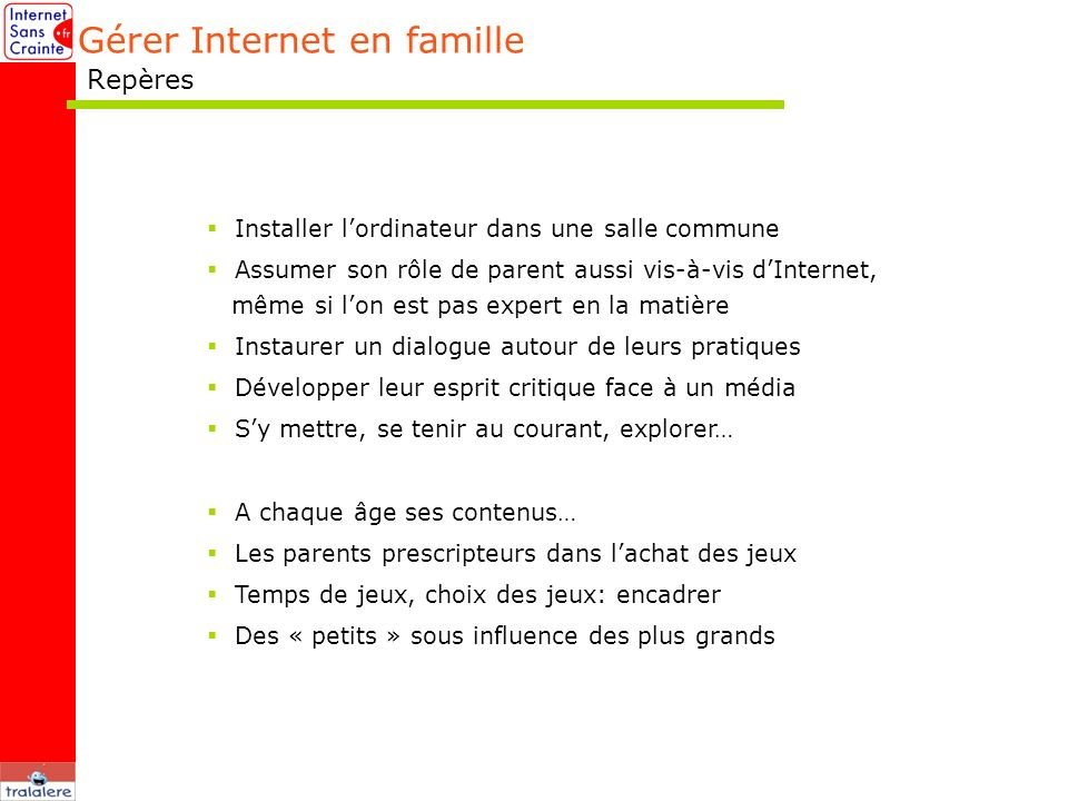 Gérer Internet en famille