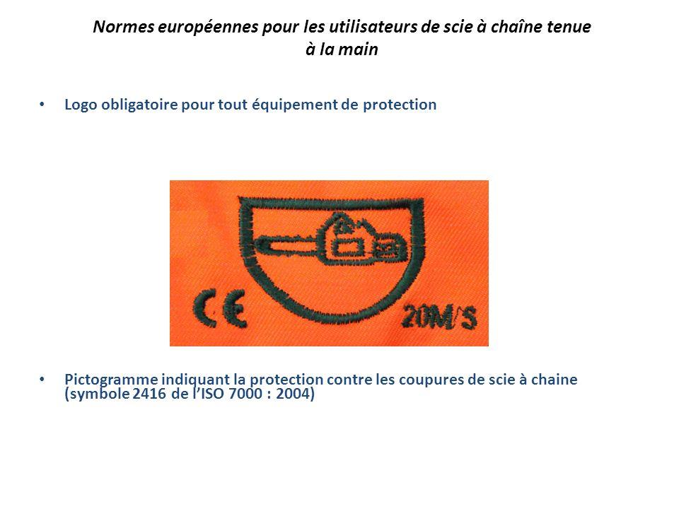 Normes européennes pour les utilisateurs de scie à chaîne tenue à la main