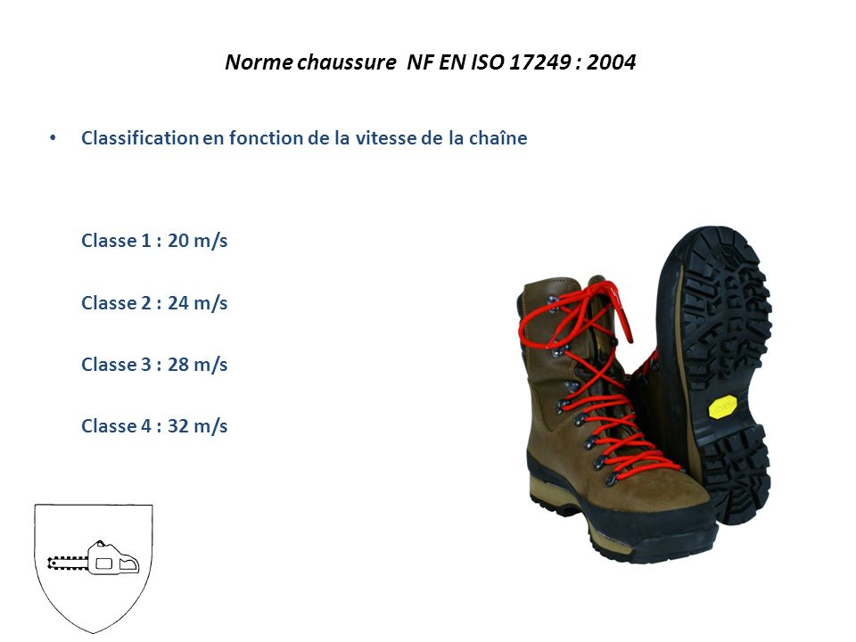 Norme chaussure NF EN ISO 17249 : 2004