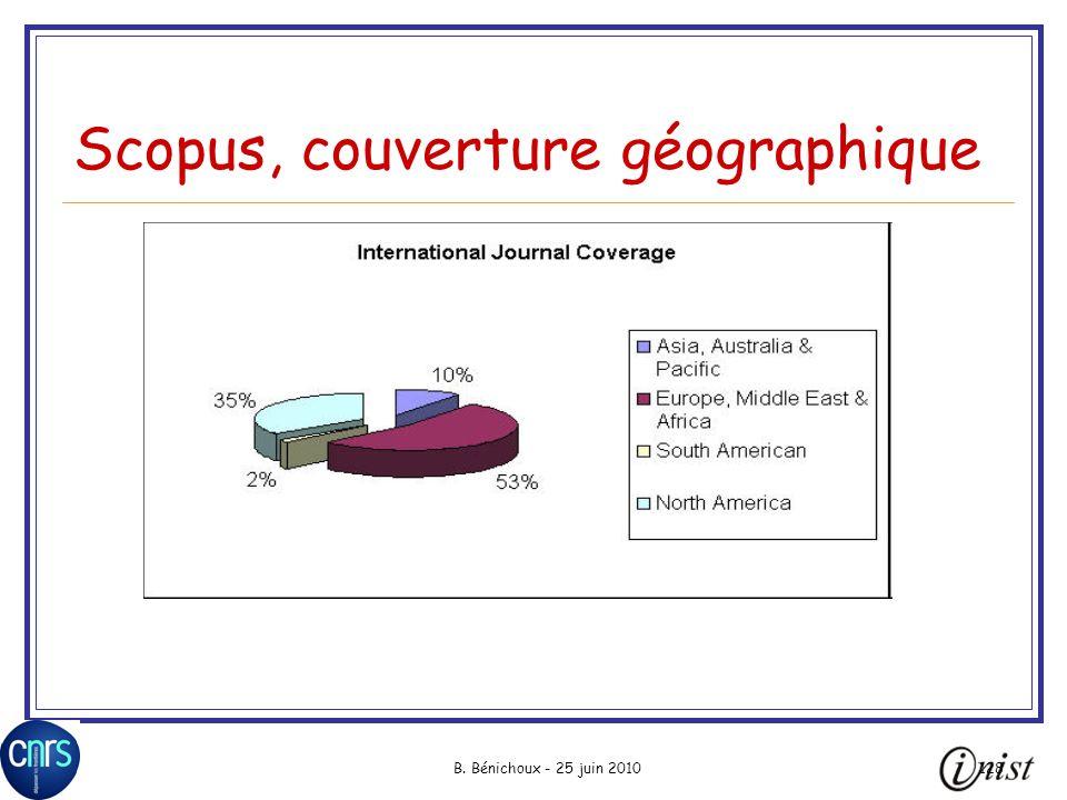 Scopus, couverture géographique
