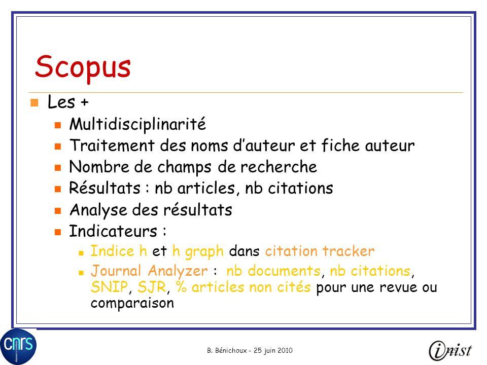 Scopus Les + Multidisciplinarité