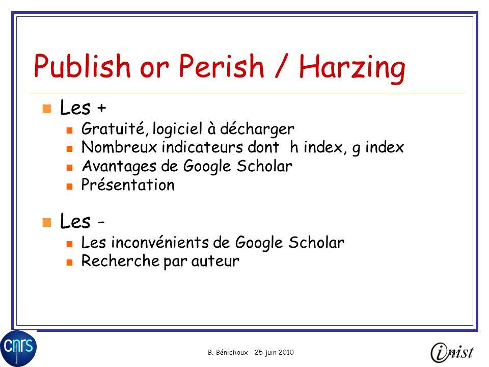 Publish or Perish / Harzing