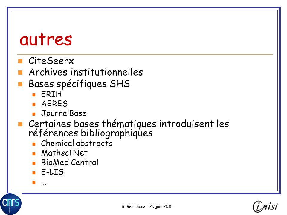 autres CiteSeerx Archives institutionnelles Bases spécifiques SHS