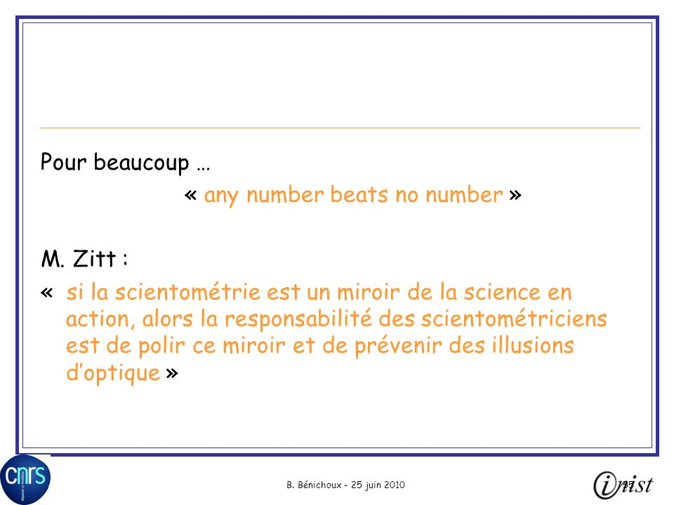 « any number beats no number »