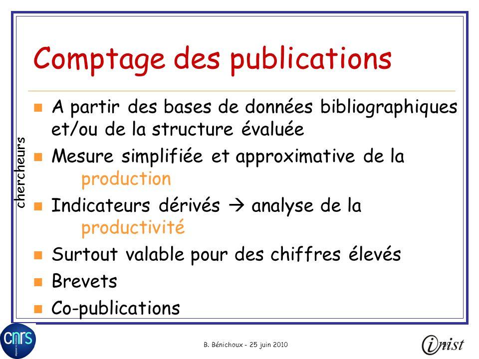 Comptage des publications