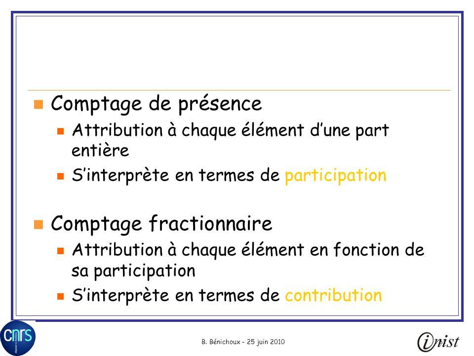 Comptage fractionnaire