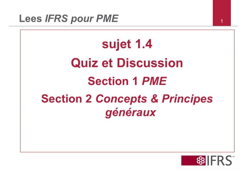 Section 2 Concepts & Principes généraux