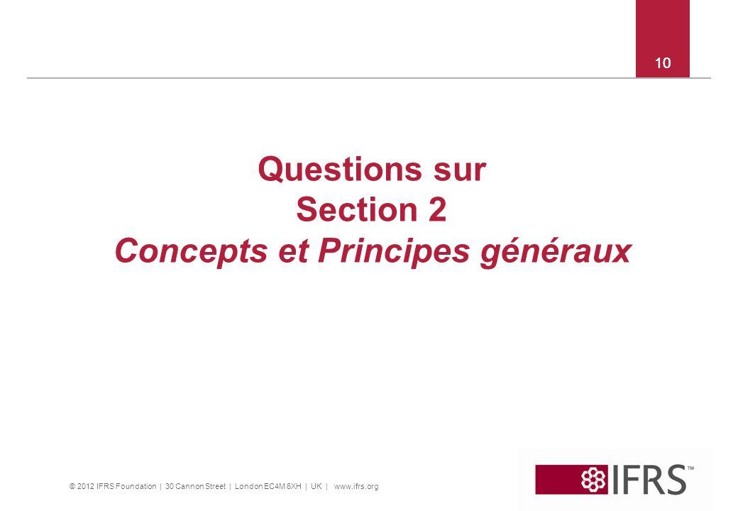 Concepts et Principes généraux