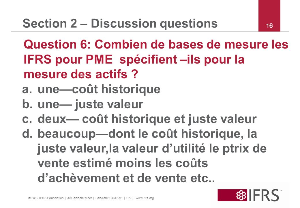 Section 2 – Discussion questions
