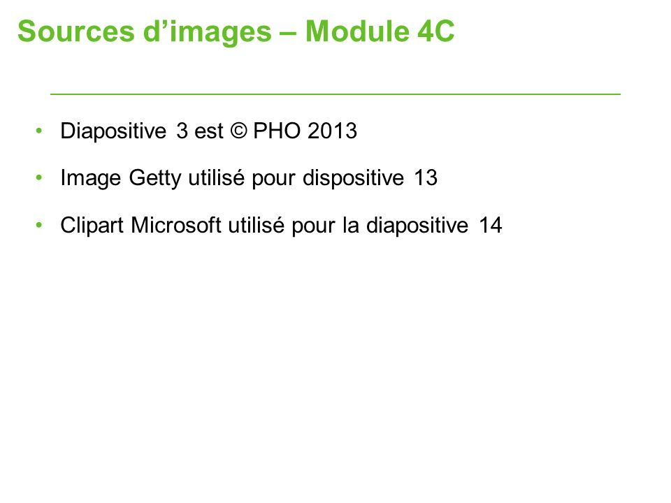 Sources d'images – Module 4C
