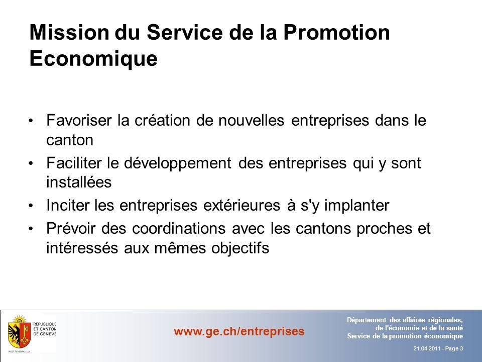 Mission du Service de la Promotion Economique