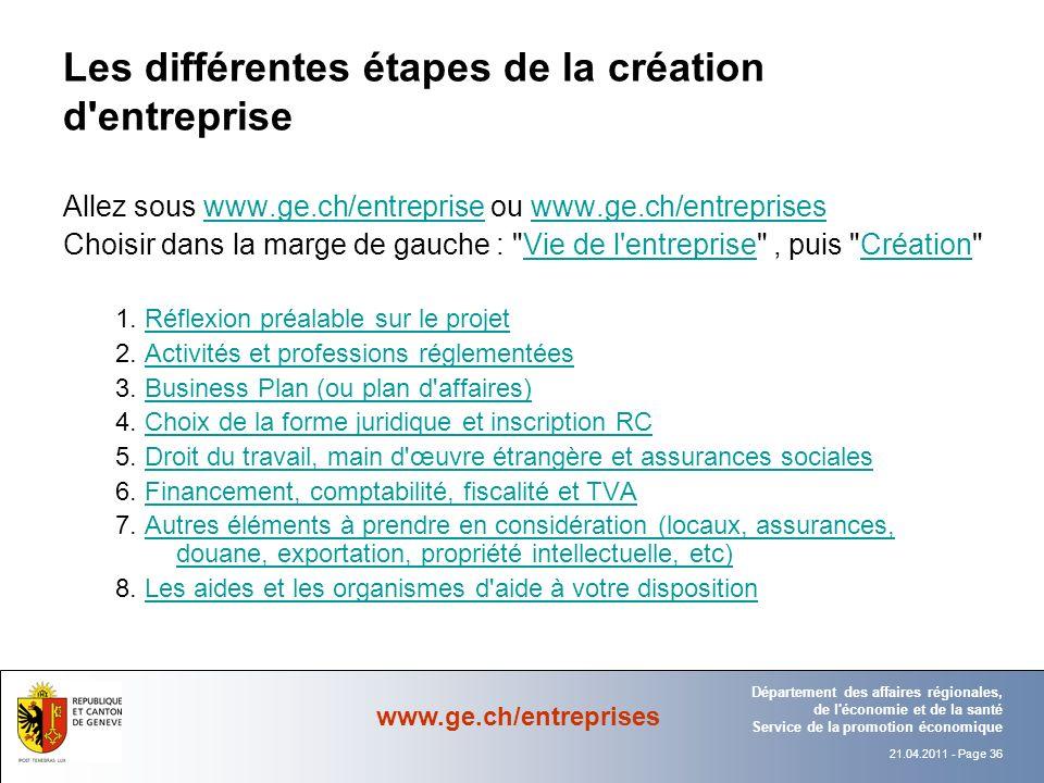 Les différentes étapes de la création d entreprise
