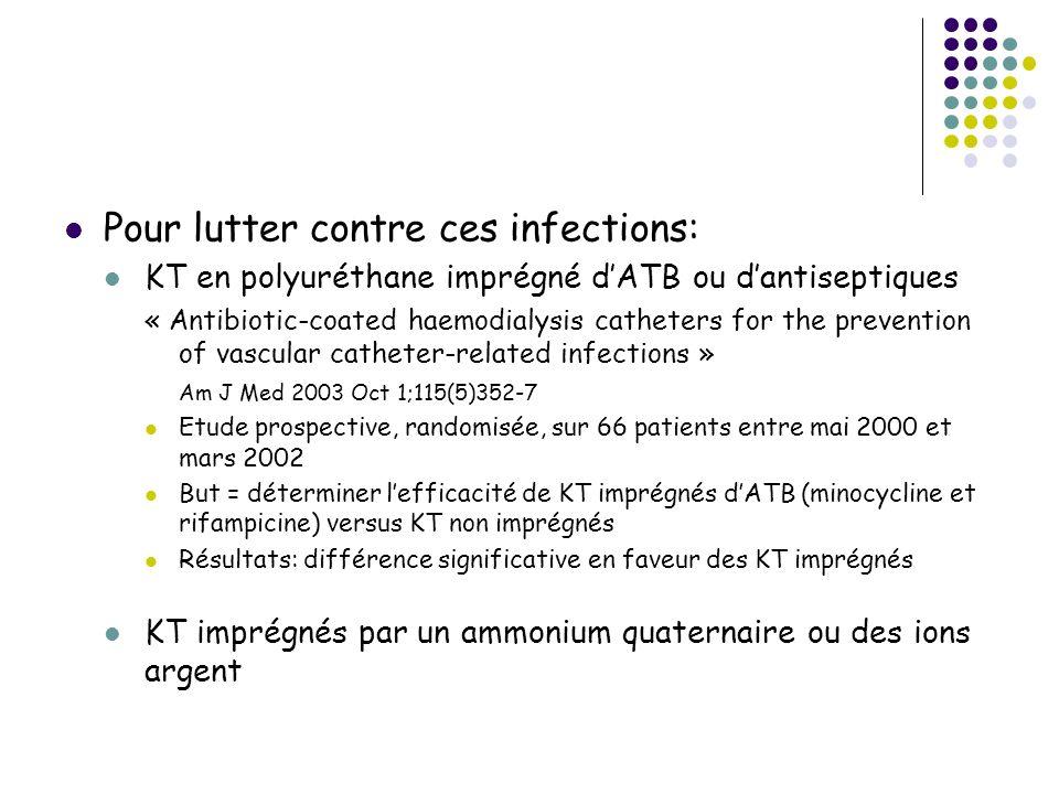 Pour lutter contre ces infections: