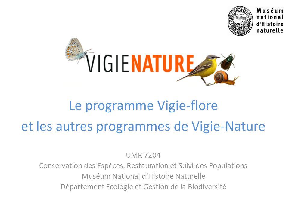 Le programme Vigie-flore et les autres programmes de Vigie-Nature