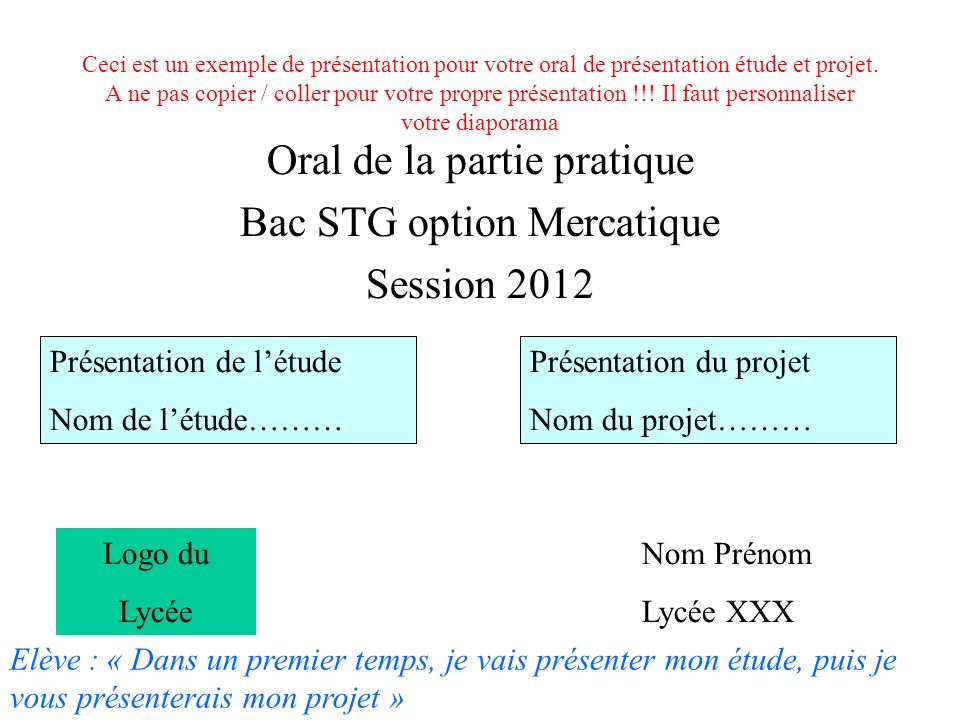 Exemple de prsentation orale - EUROPA