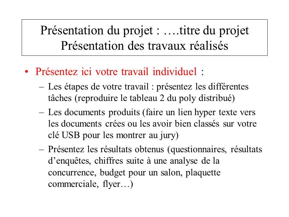 Présentation du projet : …