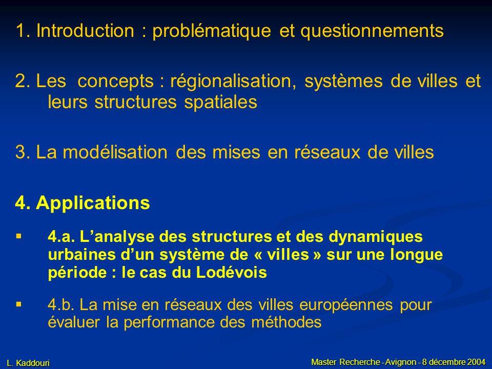 3. La mise en réseaux de villes Conclusion méthodes