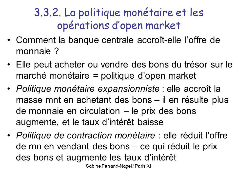 3.3.2. La politique monétaire et les opérations d'open market