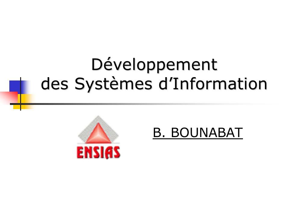 Développement des Systèmes d'Information