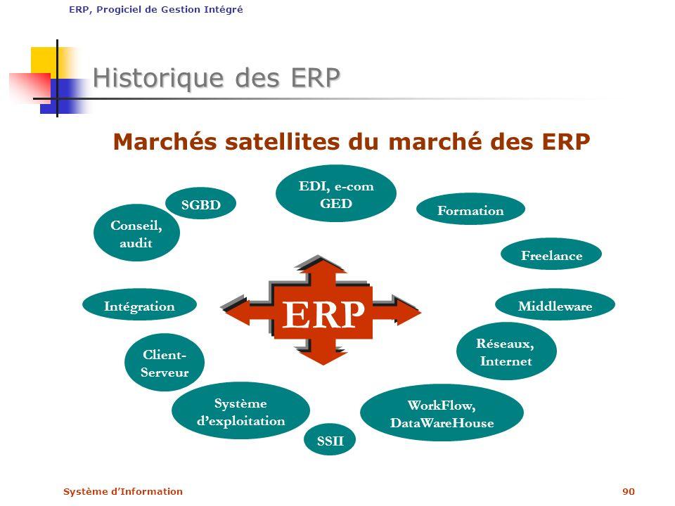 Marchés satellites du marché des ERP